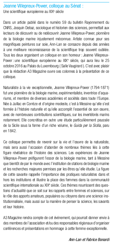 Article de A3 Magazine de juin 2016 page 60